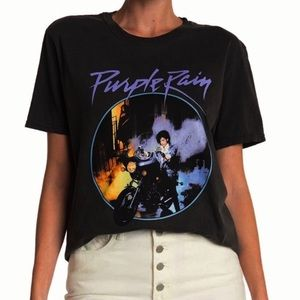 PRINCE Purple Rain Black Graphic T-shirt XL NWOT